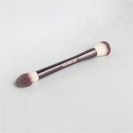 escova de maquiagem dupla final Desconto HG SÉRIE AMBIENTE ILUMINAÇÃO EDITAR ESCOVA DUPLA PERFEIÇÃO Pincel Blush Bronzer Pincel -Quality Makeup Brush Blender