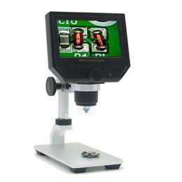 "Lupas electronicas online-600X 3.6MP Microscopio digital portátil 4.3 ""LCD Microscopios de video HD electrónicos Endoscopio Lupa Cámara Al-alloy Stent"