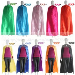 Wholesale Superhero Adult Costume - Adult Blank Superhero cape with mask - Super Hero Party Favor cape personalized, Halloween Costume -Teacher gift Mothers Day costume or cosp