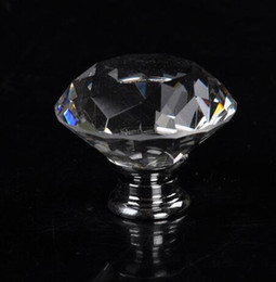 40mm Clear Diamond Shape Glass Glass Handle Cabinet Cabinet Cabinet Door Knob desde fabricantes