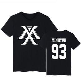Corea k-pop monsta x álbum I.M JOOHEON MINHYUK WONHO YOOKIHYUN Harajuku algodón manga corta camiseta mujer hombre KPOP ropa 4XL desde fabricantes