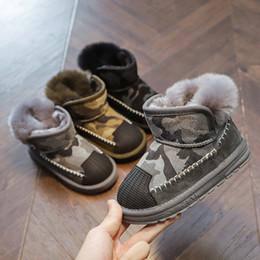 2019 sapatos populares de inverno Quente garoto meninos meninas neve botas 2018 inverno popular cascas de algodão sapatos de bebê além de botas de pele de porco de veludo sapatos populares de inverno barato