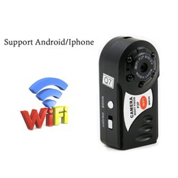 Wholesale Portable Wireless Video Camera - Q7 Mini Wifi Security DVR Wireless IP Camcorder Nanny Camera Infrared Night Vision Camera Motion Detection Video Recorder Portable Camcorder