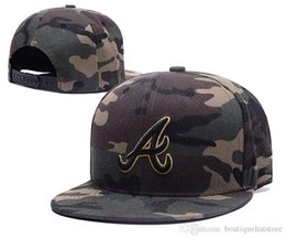 Wholesale Braves Snapback - New Arrival Braves Snapback Hats Full Camo Color Embroidered A Letter Team Logo Brand Hip Hop Sports Baseball Adjustable Caps
