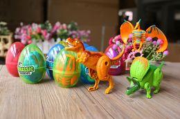 Wholesale Helping Animals - 12PCS  Lot Dinosaur World Dinosaur Egg Deformed Ultraman Funny Easter eggs Help children explore unknown toys