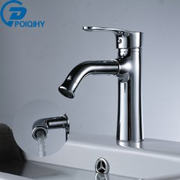 Wholesale Ceramic Bathroom Wash Basin - Bathroom Basin Faucet Water Power Basin Mixer Tap Chrome Brass Swivel Faucet Brass Smart Wash