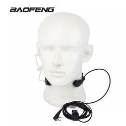 micrófono de la garganta Rebajas Micrófono de garganta extensible PTT Auricular de micrófono Auricular para Baofeng CB Radio Walkie Talkie UV-5R 8W UV-5RE UV-B5 GT-3