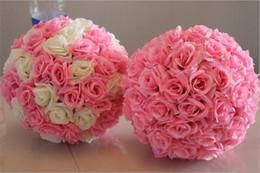 12 inç Düğün ipek Pomander Öpüşme Topu çiçek topu düğün bahçe pazarı dekorasyon için çiçek yapay çiçek süslemeleri G369 cheap pomander wedding decorations nereden pomander düğün dekorasyonları tedarikçiler