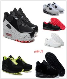 Wholesale Air Concrete - Hot sale Mens and womenSneakers Shoes classic 90 Running Shoes Black Red White Sports Trainer Air Cushion Surface Sports Shoes