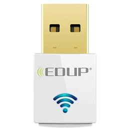 Wholesale Edup Mini Wireless - EDUP mini 5ghz usb wi-fi adapter 600mbps 802.11ac wifi receiver Dual Band USB Ethernet Adapter Network Card for Computer PC