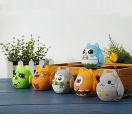 Wholesale Computer Dolls - Hot Cartoon Bluetooth Speaker Cartoon Doll Mini Bluetooth Stereo Subwoofer Support TF Card USB Disk for Computer Mobile Phone (6 colors)