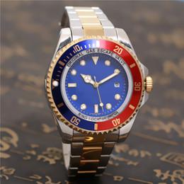 Wholesale Deep Bezel - relogio 43mm Luxury Brand Red SEA-DWELLER DEEP Ceramic Bezel Watch SEA Stanless Steel 126600 Automatic AAA Mens Business Casual Men Watches