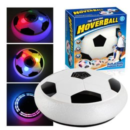 Wholesale Foam Soccer Balls - Hot Air Power Soccer Football Boys Girls Sport Toys Training Football Indoor Outdoor Disk Hover Ball Game with Foam Bumpers Light Up