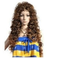 Wholesale wig black curly ponytail - New wig long hair curly hair European and American fashion popular