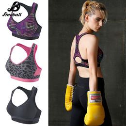Wholesale Yoga Bra Xxl - Jimsports Quick Dry Sports Bra Women Padded Wire Brassiere Shakeproof Fitness Underwear Push Up Seamless Yoga Running Tops 2018 New Sales