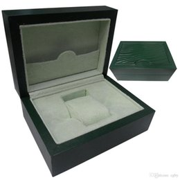 2017 de Luxo de Luxo Mans Relógios de Pulso Caixas de Marcas Top Suíças Original Caixa Verde Papel Para Rolex Watch Booklet Cartão em Inglês Homens atacado de