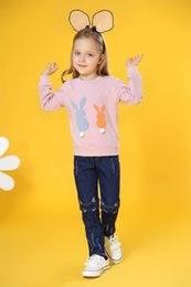 2019 hasenhemd kinder New Baby Infant Mädchen Kleidung langärmelige T-shirt Cartoon Bunny Rabbit Fellknäuel Schwanz Nette Kinderkleidung rabatt hasenhemd kinder