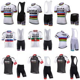 Wholesale mens bicycles - Maillot Ciclismo 2018 BORA Mens Cycling Jersey Summer Mtb Bike Clothing quick dry Bicycle Short Sleeves 3D Bib Shorts Suit Sportswear C2614