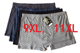 2019 mens di bambù 9XL11XL 4Pcs \ lotto Intimo Morbido Boxer Fibra di bambù Boxer Uomini Stampa Boxer Pantaloncini Plus Size Mens Intimo HOT sconti mens di bambù