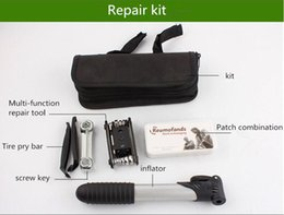 Wholesale Bag Combination - 2018 Bicycle repair kit suit.Multi-function combination tool repair kit Suit bag.Tools collect portable bags.