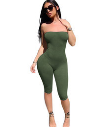 1c8edd92b3fe0 one piece strapless jumpsuit Promo Codes - Summer Sexy Strapless Rompers 4 Colors  Women Slim Hip