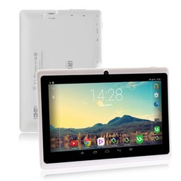 Google play бесплатно android онлайн-7-дюймовый планшет, бесплатная доставка, Google Android 6.0, четырехъядерный процессор, двойная камера, Wi-Fi, Bluetooth, 1 ГБ / 8 ГБ,Play Store Skype (Белый)