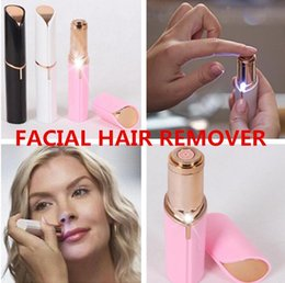 Wholesale trim remover tools - NEW Electric Shaver Razor Wax Flawles facial hair removal Women Lipstick portable mini Hair Remover Trimmer Machine Shaving Tool free DHL