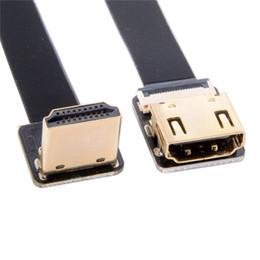 2019 кабель usb uc e6 FPV 90 градусов вниз Угол HDMI между мужчинами FPC Плоский удлинитель для камеры HDTV Мультикоптер Аэрофотосъемка