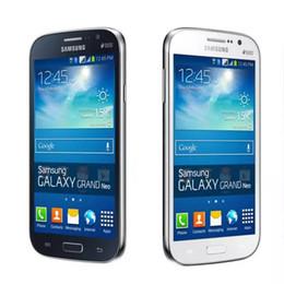 samsung разблокированные телефоны gsm Скидка Оригинальный Samsung GALAXY Grand Neo Plus I9060I GSM 3G разблокированный мобильный телефон 1g / 8G четырехъядерный телефон GPS WIFI Bluetooth отремонтированный телефон