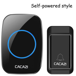 outdoor chimes Promo Codes - CACAZI A10G Waterproof Self-powered Wireless Doorbell Smart Home Door Bell Chime ring 1 Outdoor Transmitter + 1 Indoor Receiver 30SET LOT