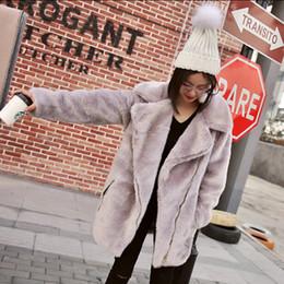 Wholesale high quality mink hats - High quality Long Hairy Shaggy Long Faux Fur Coat High quality Women Lapel Faux Mink Fur Long Coats Warm Outerwear 3 colors