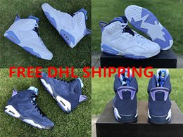 Wholesale Championship Boxing - New Release Free DHL Shipping 2018 With Box Men's Basketball Shoes Sneakers 6s UNC Championship PE Blue for men Sports Shoes Gym Trainers