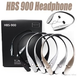 Wholesale Lg Hbs White - HBS 900 Cell Phone Earphones HBS900 Wireless Sport Neckband Headphones In-Ear Headsets Bluetooth Stereo Earphone For LG iPhone X Samsung S8