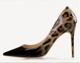 Wholesale leopard printed pointed shoes - Luxury Red Bottom Shoes 2018 Fashion Pointed Toe leopard High Heels Designer Sexy Shallow Mouth Sole High-heeled Women Wedding Dress Shoes
