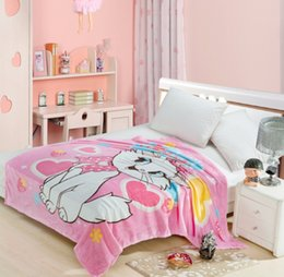 7efd06708b Mary Cat Home Textile Cartoon Blanket for Kids Gift Doraemon Stitch Coral  Fleece Blanket Throw on Bed Sofa Boys 150 200cm Queeen
