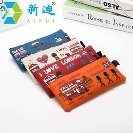 london cases Coupons - XINDI Kawaii Pencil Cases School Supplies Stationery Gift School Cute Pencilcase London Oxford Cloth Pencil Bag Free Shipping
