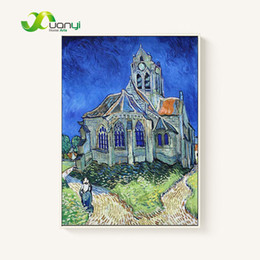 Wholesale Hand Painted Oil Reproductions - The Museed'Orsay Van Gogh Oil Painting Reproductions Wall Pictures For Living Room Modern Hand Painting Home Decor Art Unframed
