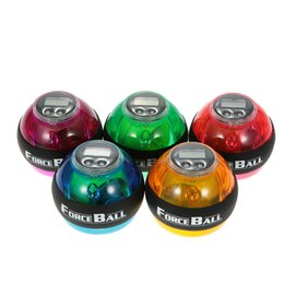Wholesale big force - Gyroscope Ball Force Ball Gyro Power Wrist Ball Arm Exerciser Strengthener LED without Speed Meter Counter
