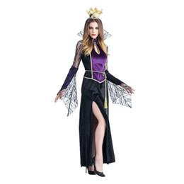 Argentina Vendedora caliente de la reina de las mujeres Sexy Vampire Witch Dress Halloween Cosplay Party Costume Accesorio de Halloween Fast Send Drop Shipp l816 cheap shipp dresses Suministro