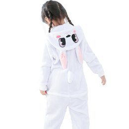 Wholesale Pajamas Teenage - Mejorhome 2017 New Kids Flannel Unisex Warm Pajamas Boys Girls Rabbit One-piece Home Cosplay Nightwear Winter Pajamas