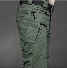 Wholesale khaki overalls men - Tactical cargo pants SWAT trousers combat multi-pockets pants training overalls men's cotton pants S-XXL