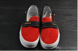 Wholesale X Lover - 2018 Old Skool Fear of God x Sneakers Women Men Low Cut Era Casual Shoes Fashion Red Black lovers Canvas Designer Brand Sneakers 35-44