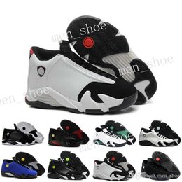 Wholesale cheap shoot - Hot 2017 cheap 14 trainers basketball shoes last shot black toe thunder gs red suede Varsity Red Oxidized Sport sneaker boot