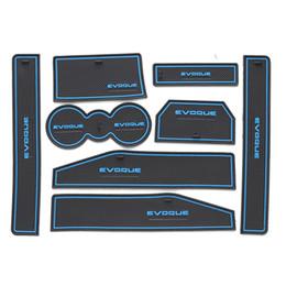 Wholesale Slot Cars Set - For Land Range Rover Evoque accessories 2012 - 2015 gate slot pad door car-cup car interior decoration mat 8pcs set