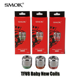 Wholesale babies lights - 100% Original SMOK TFV12 TFV8 Baby Prince Tank Atomizer New Beast Coil V8 Baby-Q4 Strip Mesh T12 Light Coils Head Core Authentic SMOKTECH