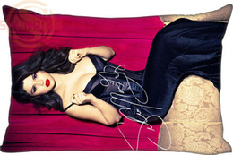 Wholesale Hospital Quality - High Quality Custom Zippered Rectangle Selena Gomez Pillow Case (Two sides) New arrival Home Textile Pillow Case