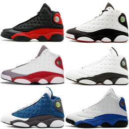 hot sale online 7783b 614de Scarpe economiche di alta qualità a prezzi accessibili 13 XIII 13S Scarpe da  pallacanestro firmate da uomo allevate nero marrone Ologramma bianco Flints  ...