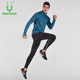 486c6984d7d Wholesale- Compression Running Sets Plus Size Men Tracksuit Skinny Brand  Sport Clothing Fitness tshirt High Quality Crossfit Suits