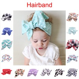 Wholesale Head Ribbons For Baby Girls - Baby Lace Bow Hair Hairband 19 Styles Hair Band Princess Baby Girl Head Wrap For Children Accessorices Promotion G67Q