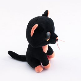 614b5b85d14 baby Beanie Boos Big Eyes Black Cats Plush Toy Doll Child Birthday 10 -  15cm Baby For Kids Gifts bear beanie boo for sale
